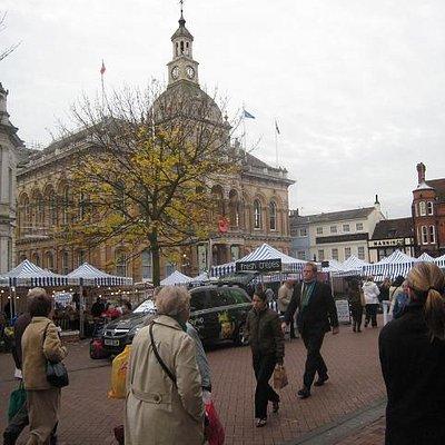 Ipswich COrnhill Market and Town Hall,  NOV 2008