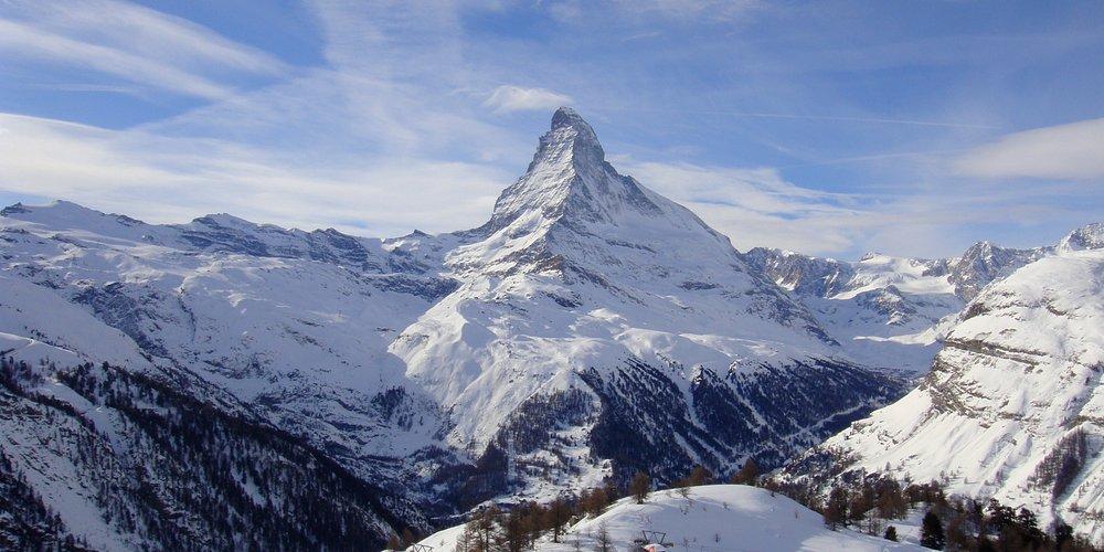 the Matterhorn from Sunnegga paradise (winter)