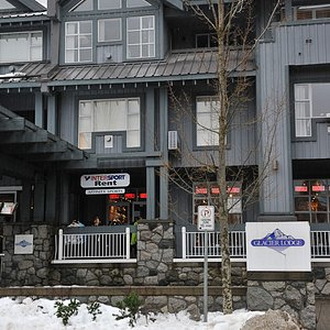 Outside Affinity Sports at Glacier Lodge, Whistler