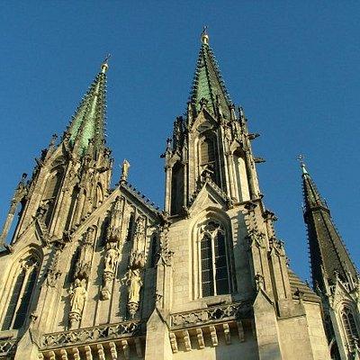 The three spires of Saint Wenceslas
