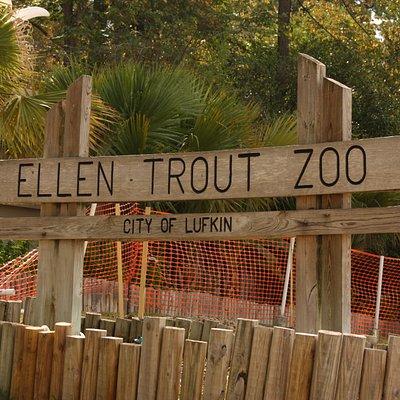 Ellen Trout Zoo - notice the orange fencing