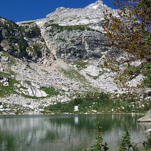 Amphithetater Lake, with Disappointment Peak and Grand Teton in the background