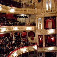 Inside the theatre, looking acroos the room (the stage is to the right)