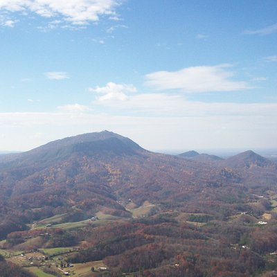 Mountain View from Helicopter Ride