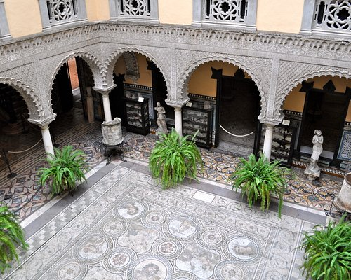 The open courtyard is a spot of serenity in a bustling shopping district