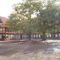 Fresenhof, Fachwerkgebäude, alter Burgmannshof