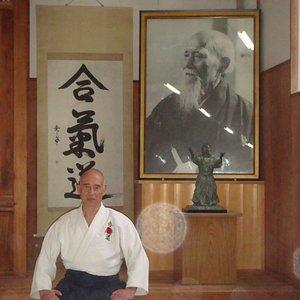 En el dojo de Kumano Juku en Shingu