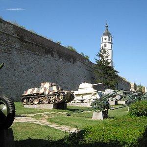 軍事博物館の外側に展示してある戦車