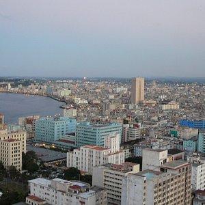 Malecon-Havanna bei Sonnenuntergang