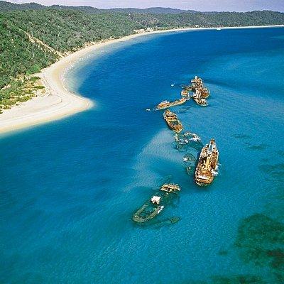 The iconic Tangalooma Wrecks