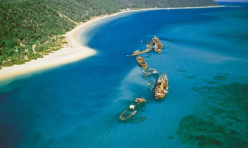 The iconic Tangalooma Wrecks