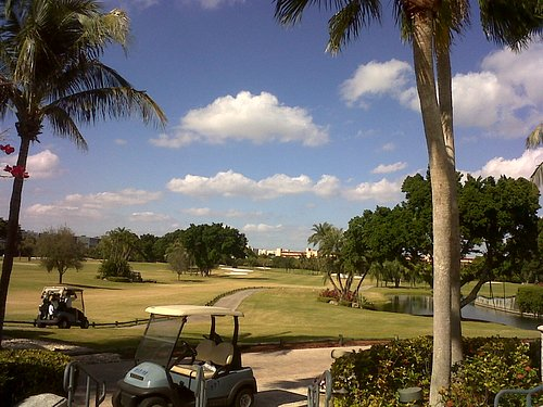View Of #1 Fairway from 19th Hole terrace
