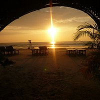 Sunset from the Dome shack Cavelossim beach
