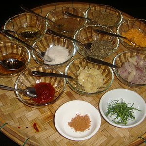 Large Variety Seasoning and spices for the class