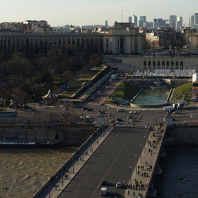 エッフェル塔から見たイエナ橋