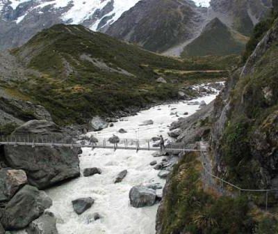 途中のつり橋