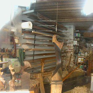 """The artisan's workshop for making the Gondolier's Rowlock or """"forcola"""" – we would never have fou"""