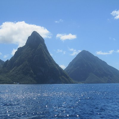 The Pitons - Petit (left) and Gros (right)
