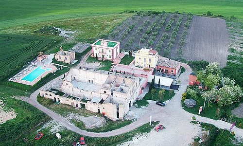 Veduta aerea della Masseria Sant'Agapito