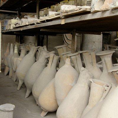 Wine jugs Pompeii