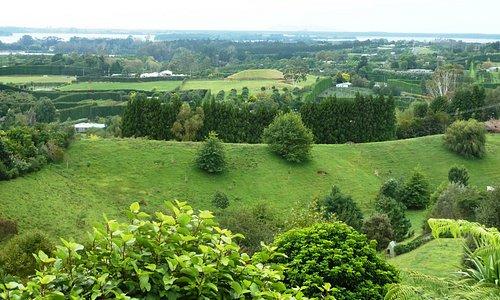 views of the surrounding farmland