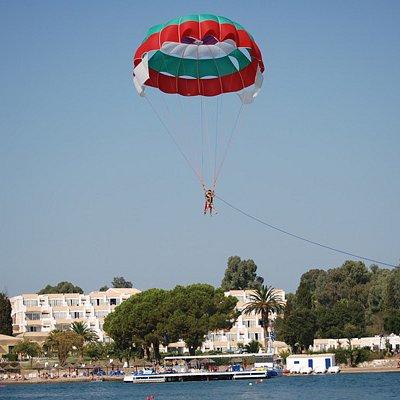 Parachute water sports, Corcyra Beach
