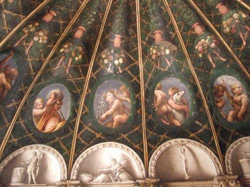 コッレッジョの天井フレスコ画