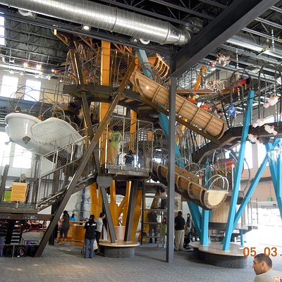 The play structure.