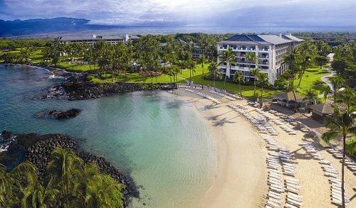 Fairmont Orchid luxury beach resort and spa, located on Hawaii Island's Kohala Coast.