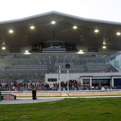 A night-time view of Limerick Greyhound Stadium