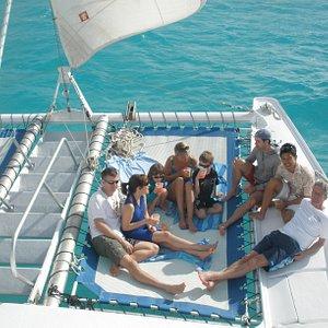 Relaxing sail on the Catamaran