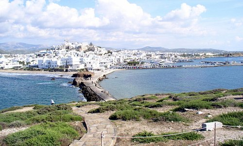 Blick auf Naxos Old Town
