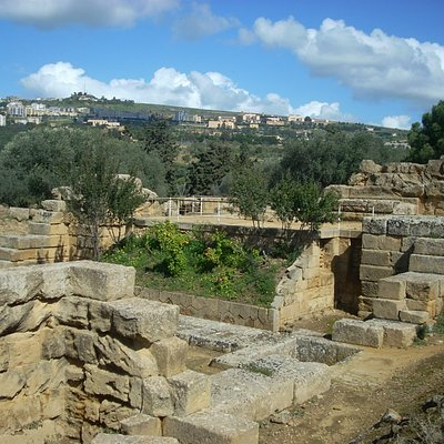These foundations for the Temple of Zeus would have been beneath floor level.