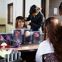 専門美容師が、かわいくヘアセットします。