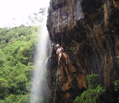 45m Abseil in the dry