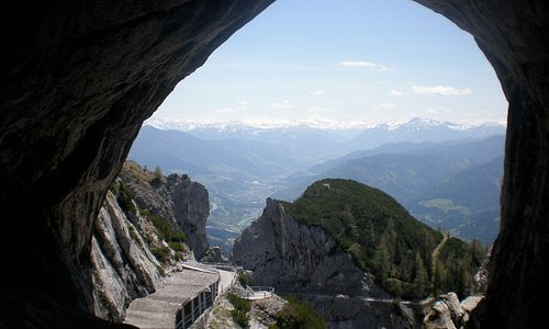 The view from the entrance to the caves.