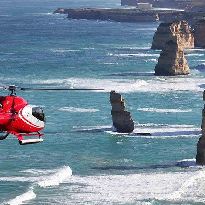 12 Apostles Helicopters touring the 12 Apostles
