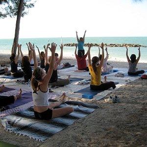 yoga on the beach Ft. Zachary