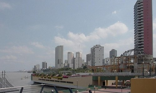 Guayaquil's downtown from Santa Ana's Port