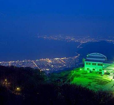 鶴見岳からの夜景