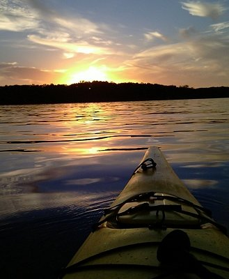 Sunset on Percy Priest lake. by Lew