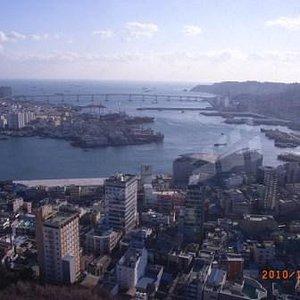 釜山タワーから 釜山大橋