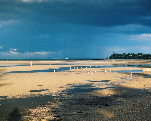 Storm Building over the Shorncliffe Beach, Sandgate Foreshore