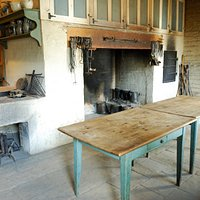 I believe this was the bakery with a huge fireplace to cook food