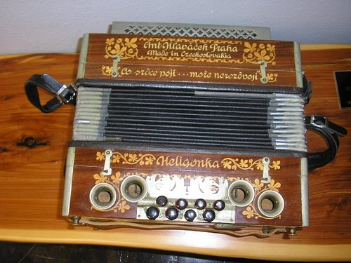 Accordion that he donated