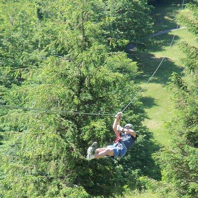 Ziplining at Hawksnest