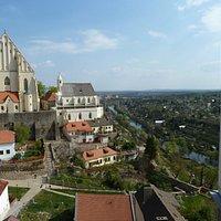 Nikolauskirche von der Burg aus gesehen