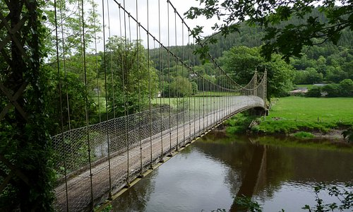 Footbridge adjacent to St. Michael's Church (14th c), Betws-y-Coed