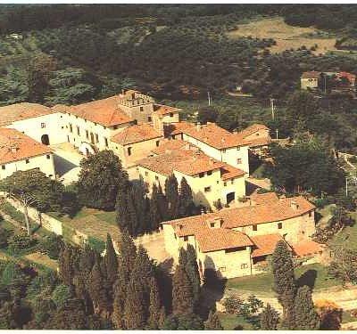 veduta aerea del Castello di Montozzi