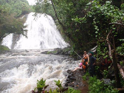 Kepirohi Waterfall during a rainstorm